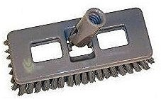 Plastic Swivel Deck Scrub Brush ea