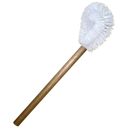 12in WOOD TOILET BOWL BRUSH