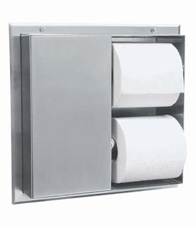 Recessed Toilet Paper Dispenser Holds 4 Rolls  ea