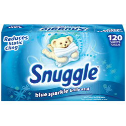 Snuggle Blue Sparkle Fabric Softener Sheets 6/120