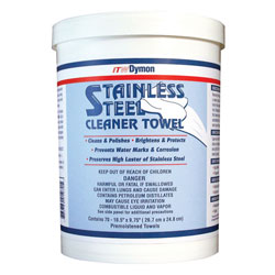 ITW Dymon Stainless Steel Cleaner Towel  6/70 ct