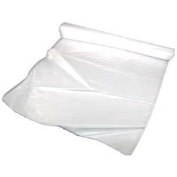 High Density Roll Can Liners 20 x 22, 6 mic, Clear 2000