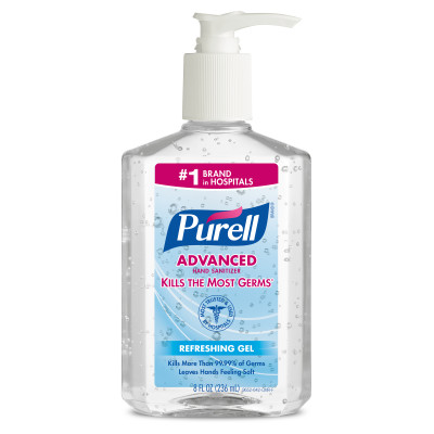 PURELL HAND SANITIZER 12/8OZ