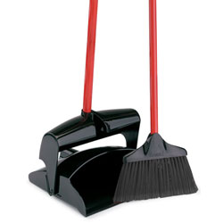 Libman Lobby Broom & Dust Pan Closed Lid  ea