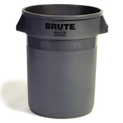 Rubbermaid BRUTE Round Container - 32 Gal., ea