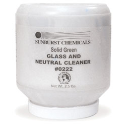Sunburst Solid Green Glass & Neutral Cleaner   1/2.5 lb