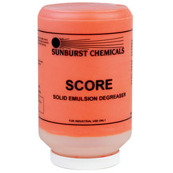 Sunburst Score Solid Emulsion Degreaser   1/4.5 lb