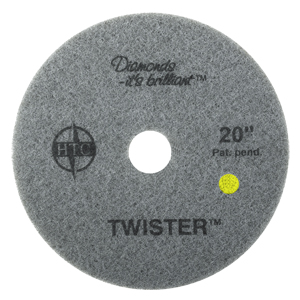 Twister 1500 Floor Pad 21 in  Yellow 2/1 cs