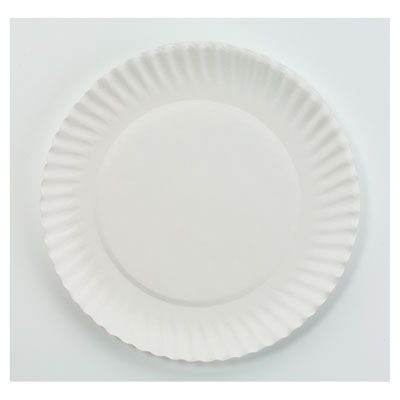 Paper Plate White  6in 10/100