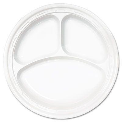 Plate Plastic 3-Compt. 10.25in