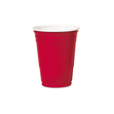 Plastic Cup Red 18 oz  1000/1 cs