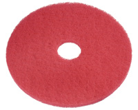 17in RED BUFFING PADS 5/CS