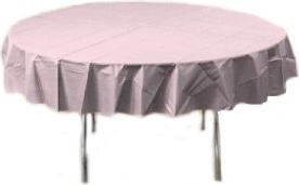 Table Cover Pink 84in Round 12/cs